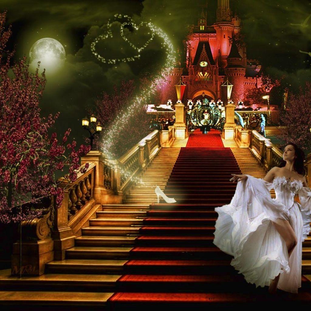 free cinderella carriage wall paper | 1024x1024 cinderella fairytale cinderella Wallpaper download