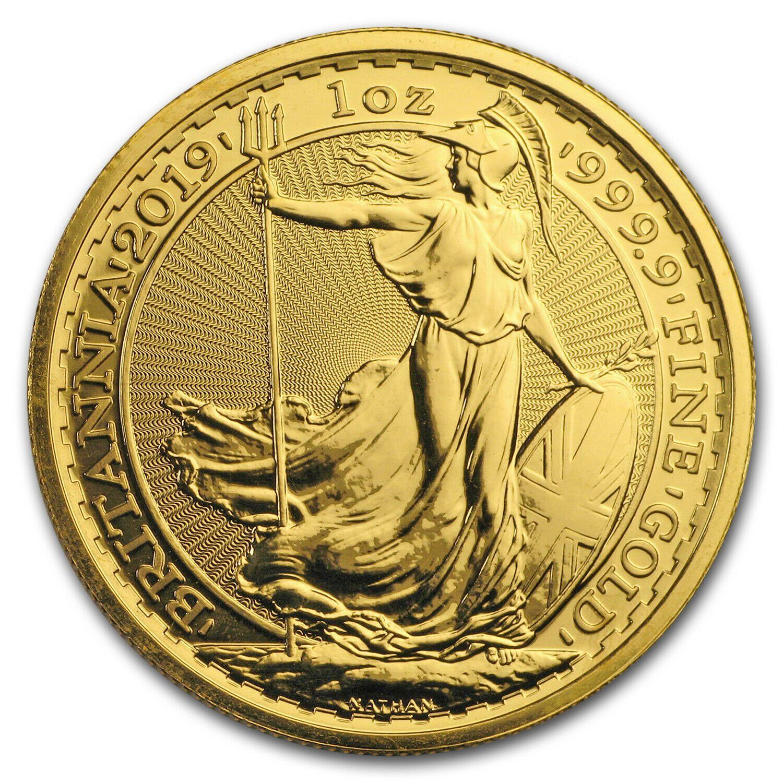 2019 Great Britain 1 Oz Gold Britannia Bu Sku 179986 Royal Mint Coins Gold Bullion Coins Gold Coins