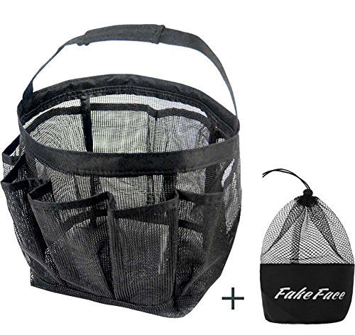 Quick Drying Oxford 8 Pockets Hanging Mesh Shower Caddy Organizer ...