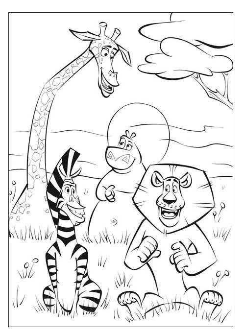 20 Desenhos do Madagascar para Imprimir e Colorir | dulci | Pinterest