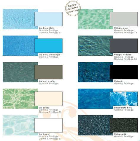 Structure, escalier et couleur de l\'eau de votre piscine ...