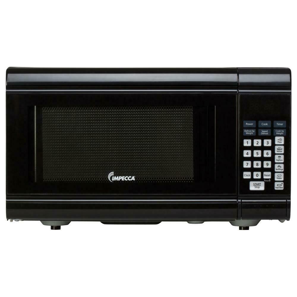 Details About Impecca Cm0991k 0 9 Cu Ft 900 Watt Countertop Microwave Oven Black Countertop Microwave Oven Countertop Microwave Countertop Oven