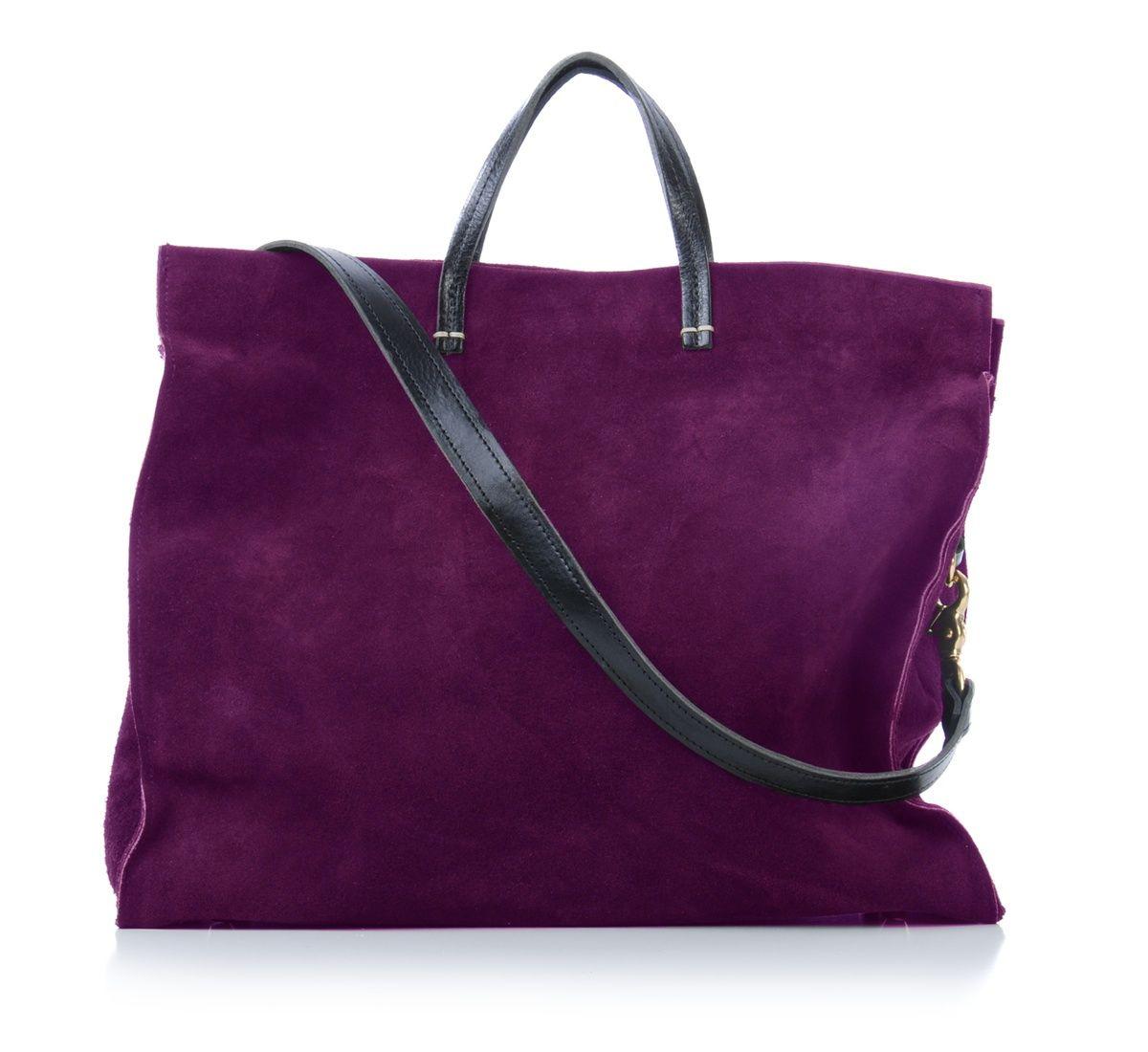 clare vivier purple suede simple tote ::Roztayger :: Designer Handbags & Accessories