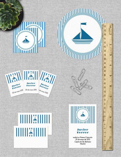 Colección de imprimibles Barco para comunión
