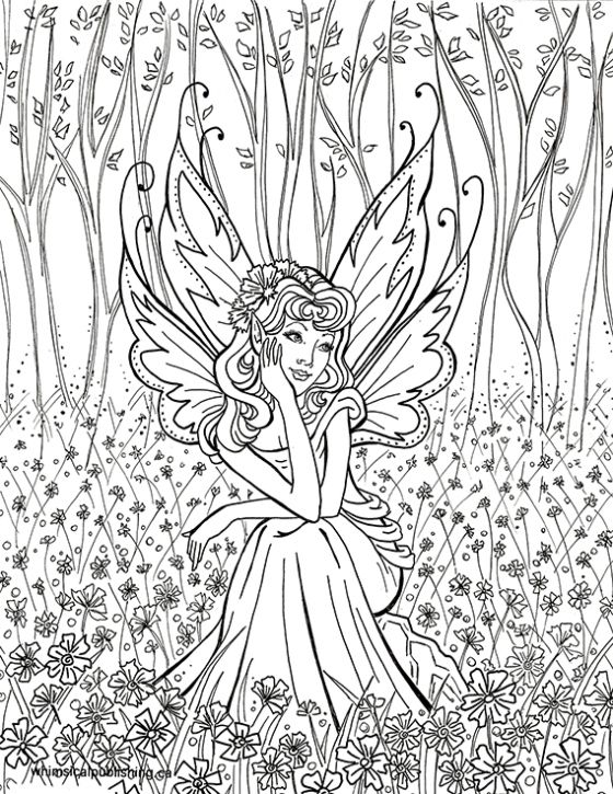 contemplative fairyfairy fae fantasy myth mythical mystical legend elf wings fantasy elves faries coloring pages colouring