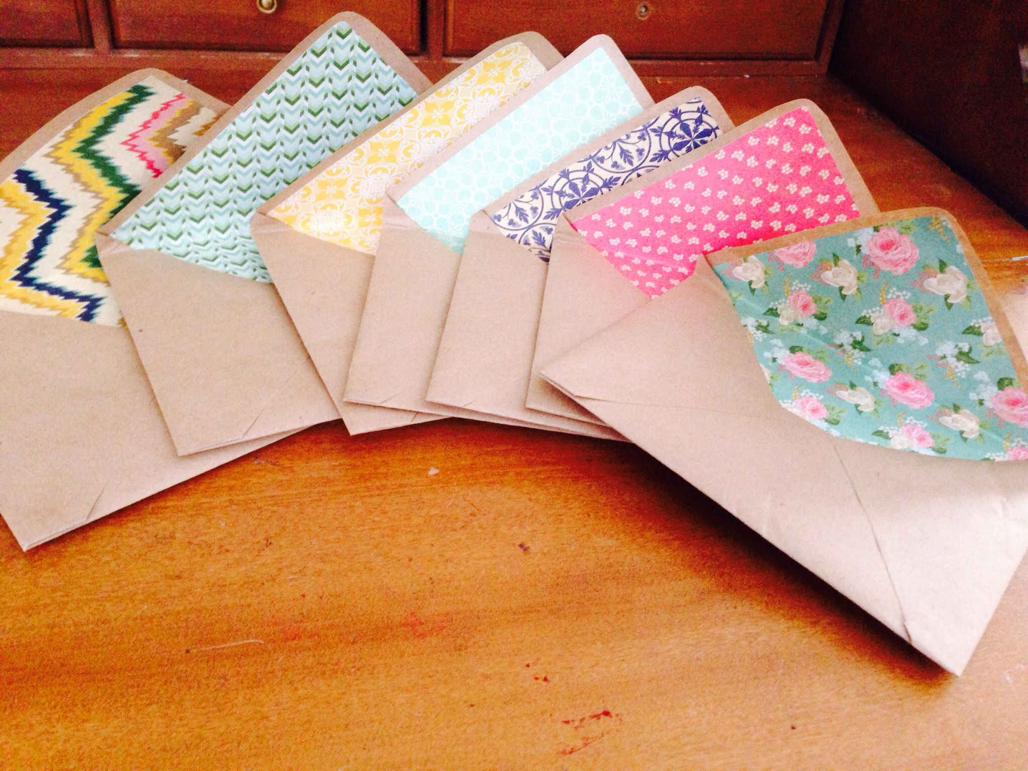 Snail mail Lined envelopes