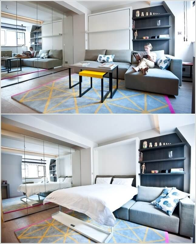 Clever Ways To Design A Living Room And Bedroom Combo In