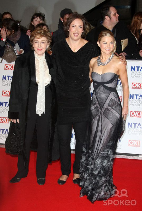 Patricia Hodge, Miranda Hart and Sarah Hadland. The National Television Awards 2012 (NTA's) - Arrivals. London, England - 25.01.12.