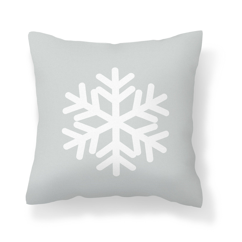 Light Gray Snowflake Throw Pillow Cover Modern Christmas Etsy Snowflake Throw Pillow Winter Pillows Throw Pillow Covers