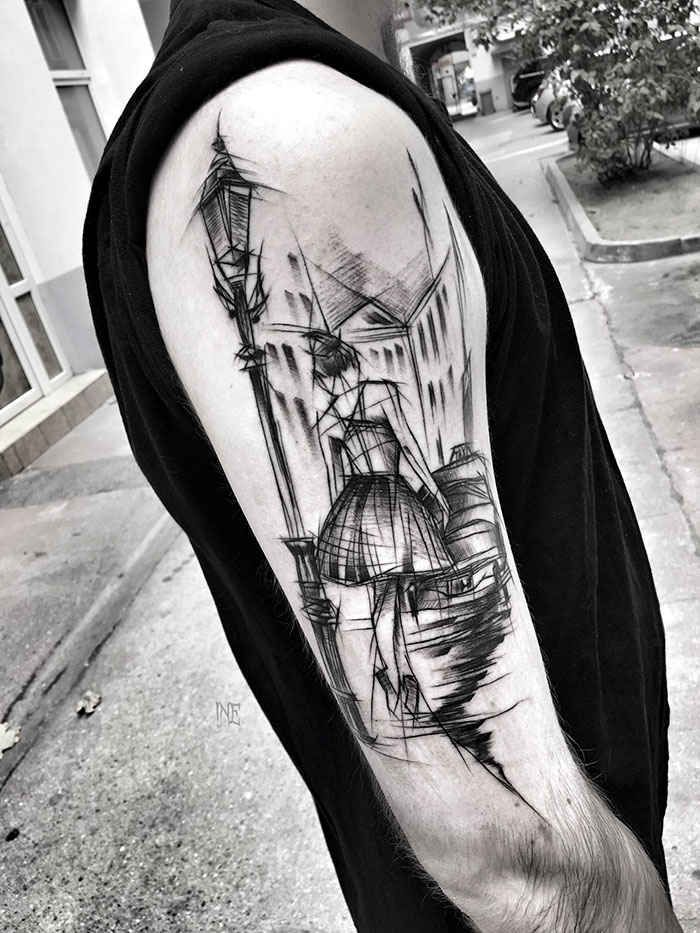 Polish Artist Shows Just How Awesome Sketch Tattoos Can Be Polish Tattoos Sketch Style Tattoos Tattoo Sketches