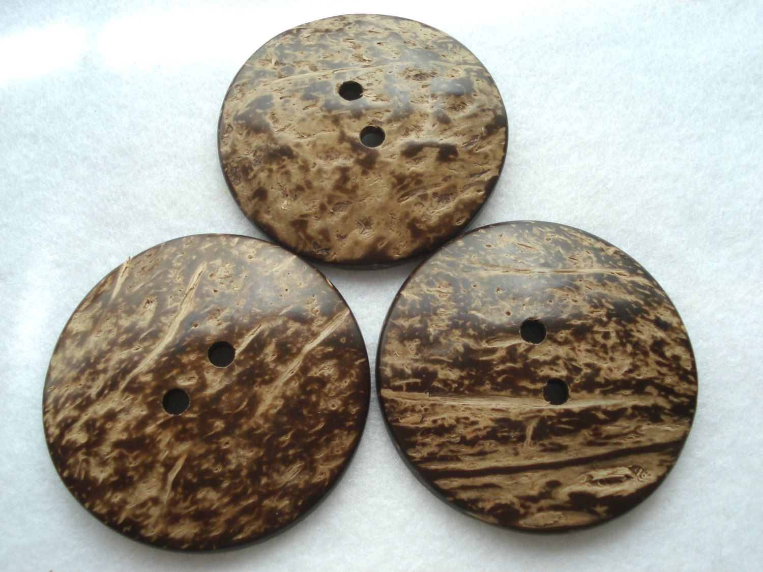 50mm Coconut Buttons Pack of 3 Large Button W5005 Two Inch Button by berrynicecrafts on Etsy