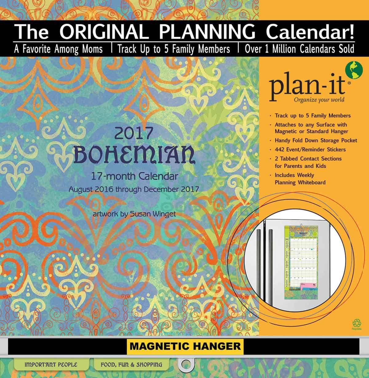 Bohemian Plan It Calendar 2017