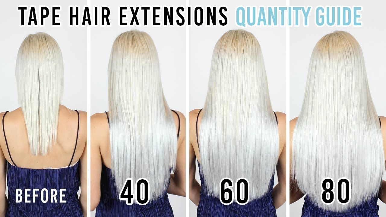 Tape Hair Extensions Quantity Guide | ZALA