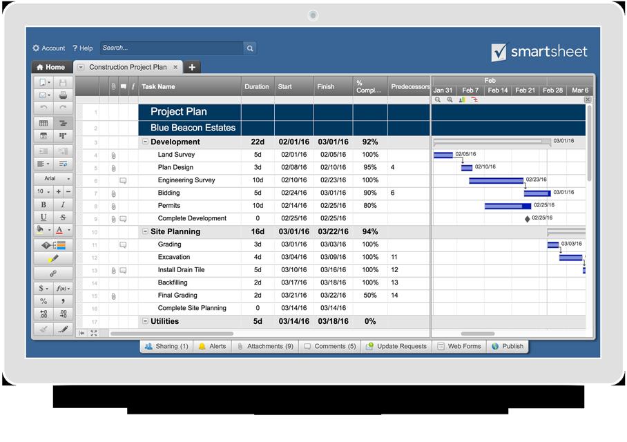 Excel Construction Management Templates Project planning