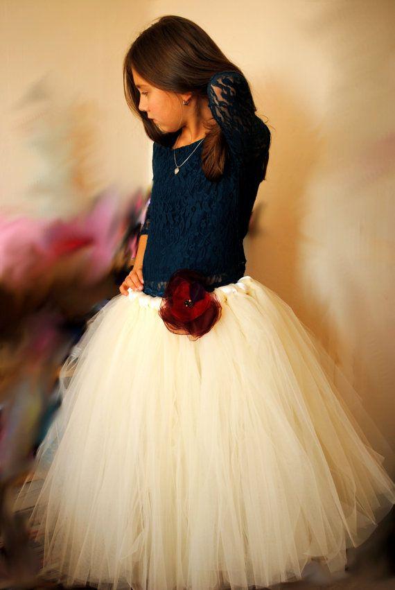 Ivory Tutu Skirt Evening Wedding Formal Tutu Skirt By Tutushopuk