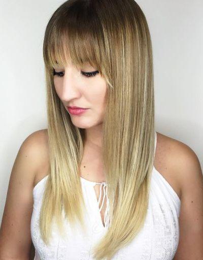 Long hair with full balayage bangs | HAIR | Pinterest | Balayage ...