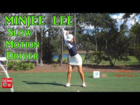MINJEE LEE 2017/2018 FACE ON DRIVER SLOW MOTION GOLF SWING