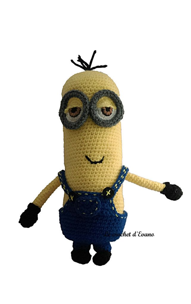 TUTO GRATUIT MINION : KEVIN | Pinterest | Crochet and Amigurumi patterns
