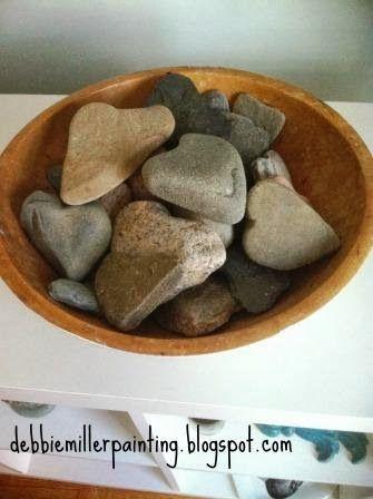 bowl of heart rocks!