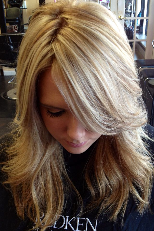 pretty blonde highlights. Want this hair for my wedding! Love the color