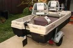 I want a pond hopper boat for camping..just put it in the back of the truck..no trailer needed.