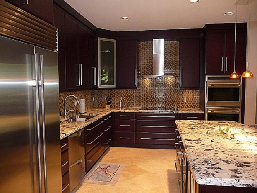 modern design dark painted wood costco kitchen cabinets - Modern Wood Kitchen Cabinets