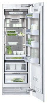 Gaggenau RC462701 24 Inch All-Refrigerator with 13.1 cu. ft. Capacity, 4 Glass Shelves, Motorized Shelf, Stainless Steel Interior, ENERGY STAR, Star-K Certified Sabbath Mode and Requires Custom Panel