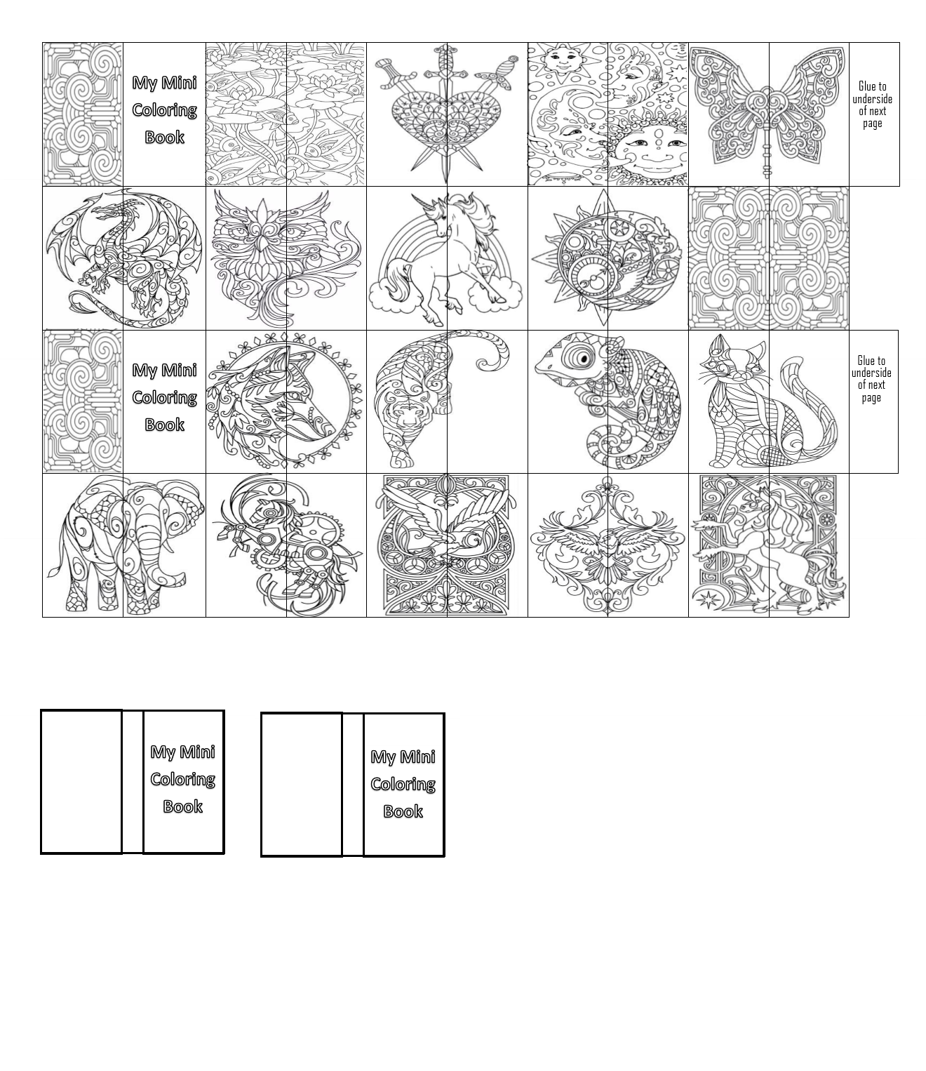 mini books coloring pages - photo#36