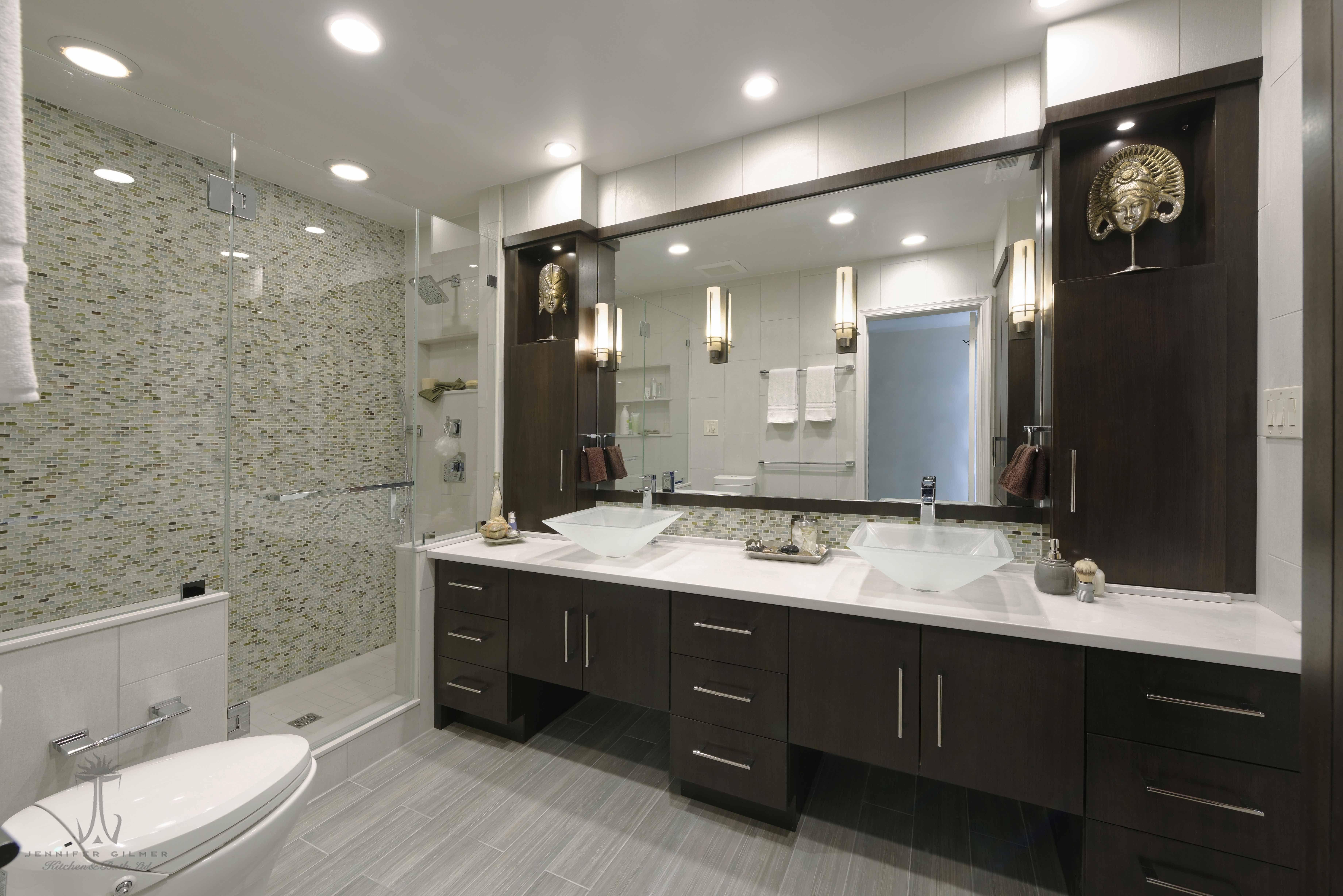 Master Bath In Washington Dc Designed By Jennifer Gilmerkitchen Bath Includes A Caesarstone Mis Bathroom Design Concepts Kitchen Bathroom Remodel Bath Design [ 4912 x 7360 Pixel ]