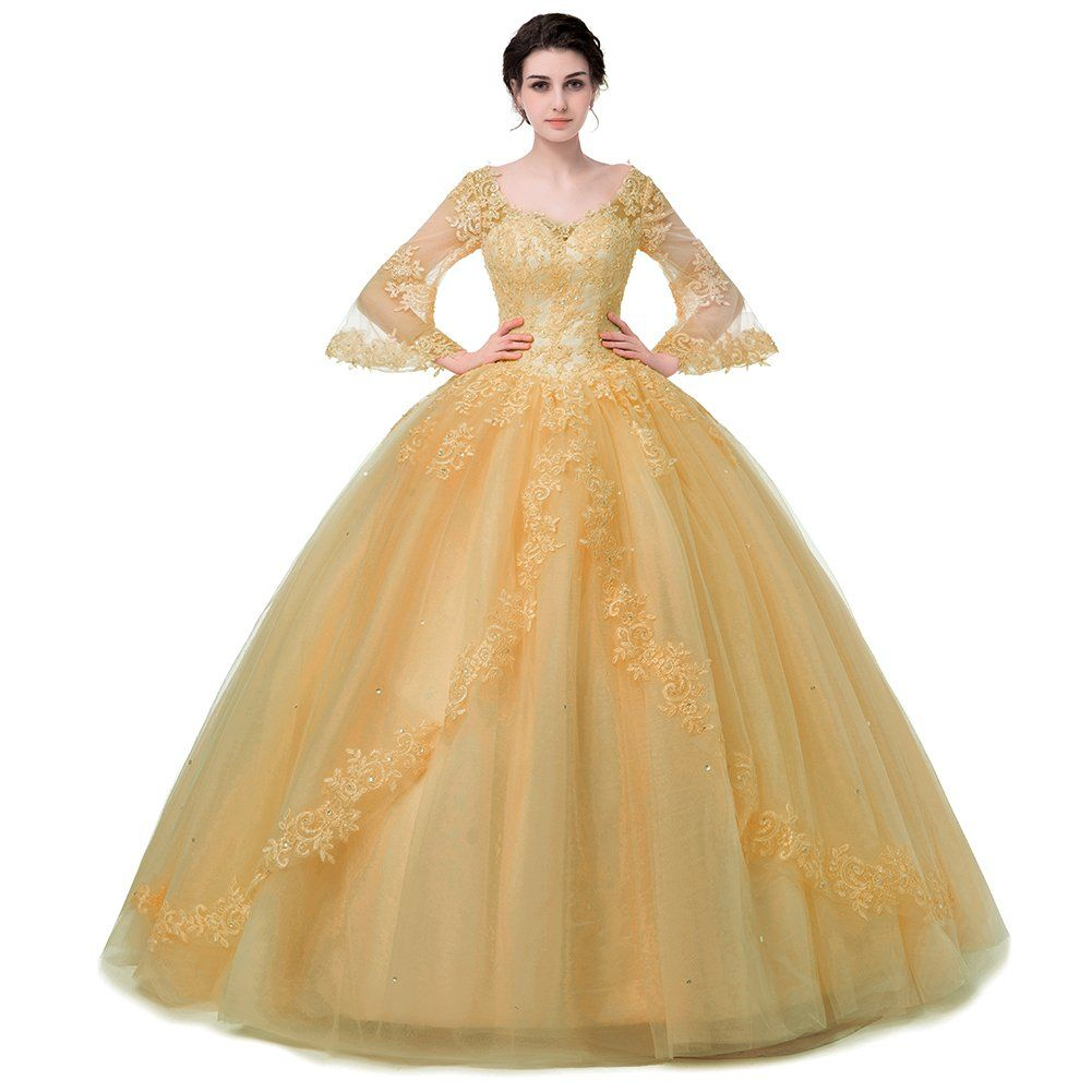 Shdress long sleeve lace quinceanera dresses formal prom dresses