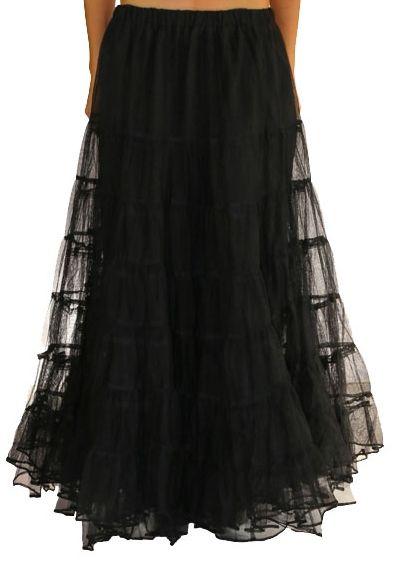 Raven long black skirt.