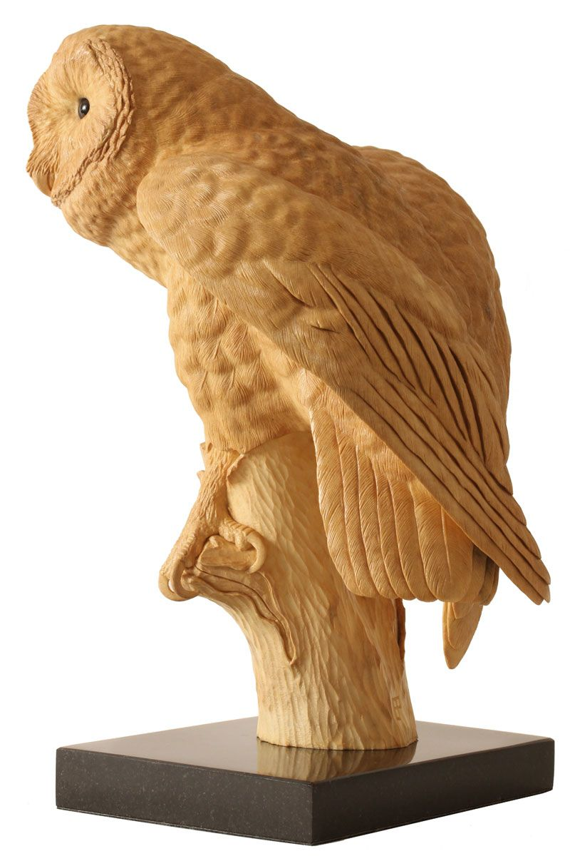 Barn owl lime wood carving owls pinterest