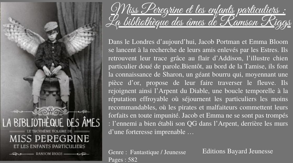 """Résultat de recherche d'images pour """"miss peregrine et les particuliers tome 3"""""""