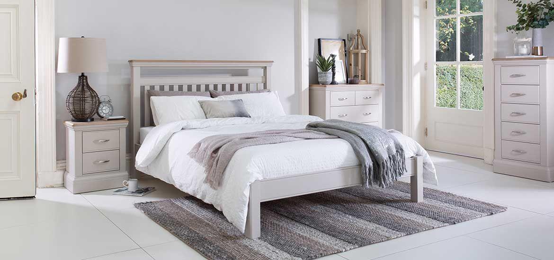 Bambury Bed Frame Stone Bedframes Bedroom New England