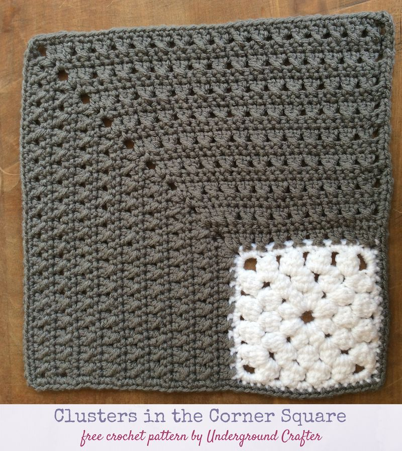 Crochet Pattern: Clusters in the Corner Square | Crochet Ideas ...