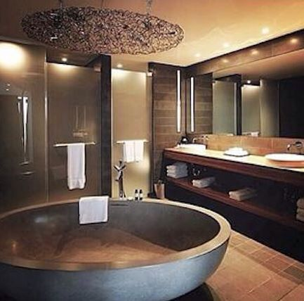 I need a tub like this! What a great soaker tub GORGEOUS BATH - sternenhimmel für badezimmer