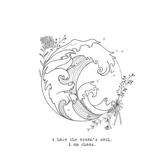 Ocean tattoo - sandy