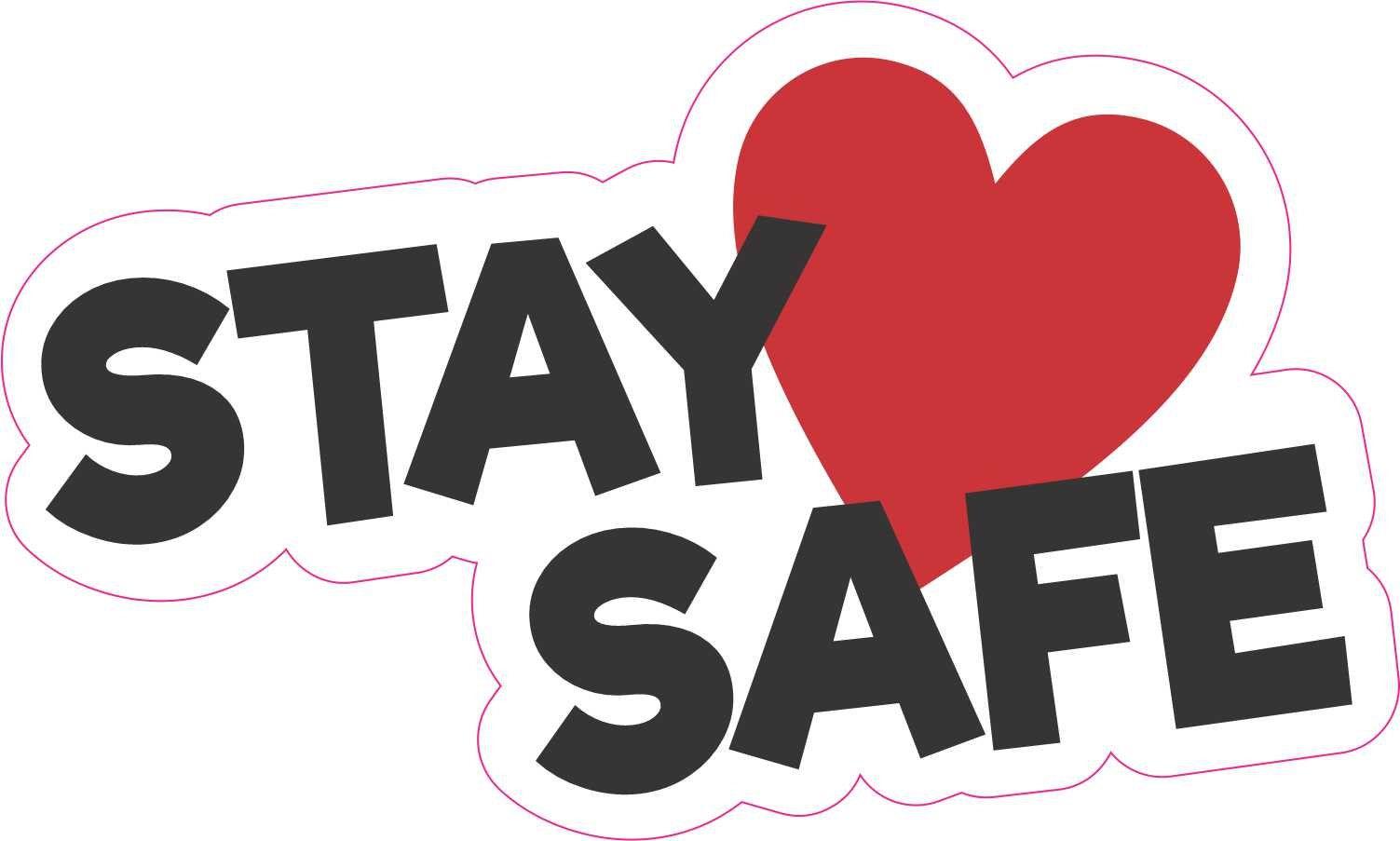 Stickertalk Stay Safe Vinyl Sticker 5 Inches X 3 Inches Etsy Vinyl Sticker Black Letter Bumper Stickers