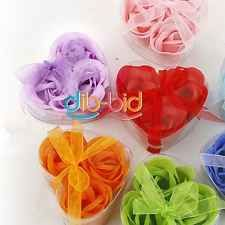 3 x Bath Body Heart Rose Petal Wedding Gift Favor Colors Flower Soap Decro