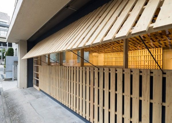 Temporary Office Space in Tokyo Made Out Of 130 Reused Shipping