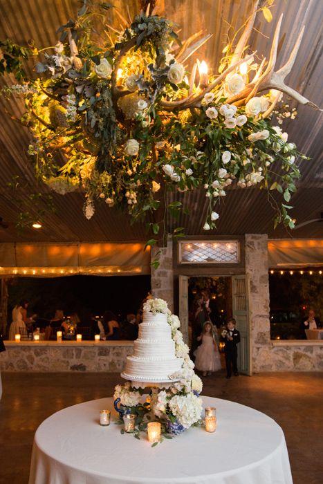 Real Weddings | D.Weddings Bridal Buzz | Wedding Cake | Cake Table | Floral Chandelier | Antler Chandelier | Floral Design