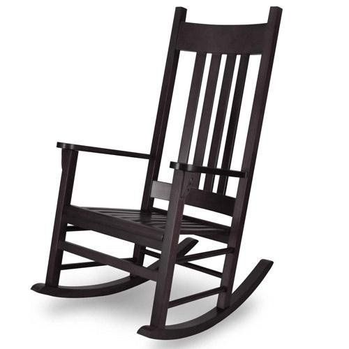 Country Adult Rocking Chair Finish: Espresso By Angel Line. $111.98. Curved  High Back