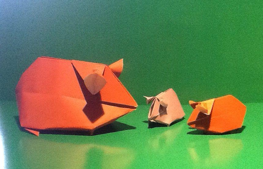 Origami Guinea pigs.   Crafts   Pinterest