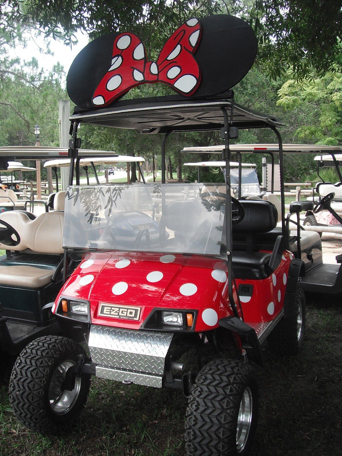 decorated cart - Fort Wilderness Campground. So cute and ... on floating golf game, floating golf hole, floating van, floating generator, floating tank, floating utv, floating golf green,