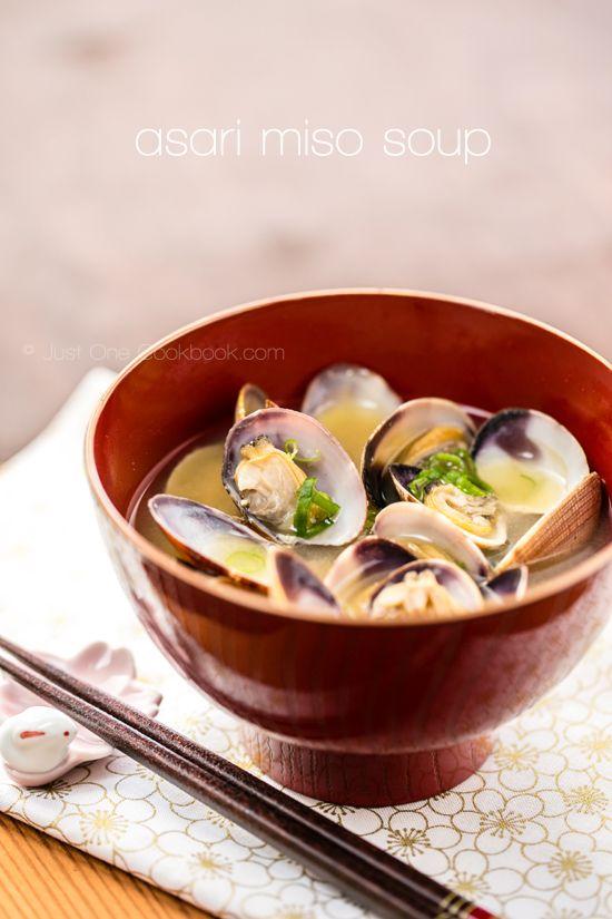 clam soup clam miso soup rezept asiatische k che. Black Bedroom Furniture Sets. Home Design Ideas