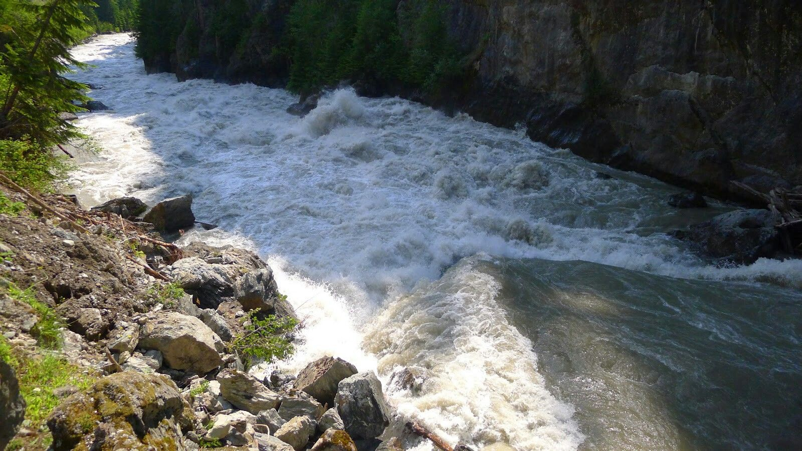 Incomappleux River, BC. Popular for whitewater kayaking and wild beauty