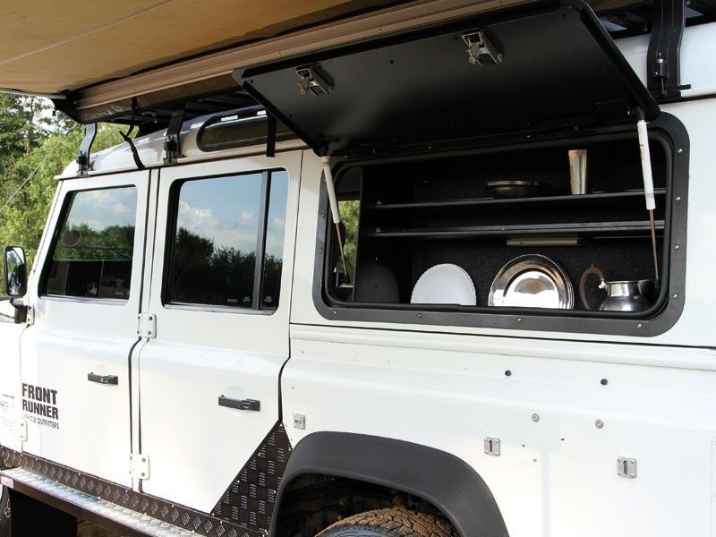 Front Runner Gullwing Window - Aluminium / Land Rover Defender ...