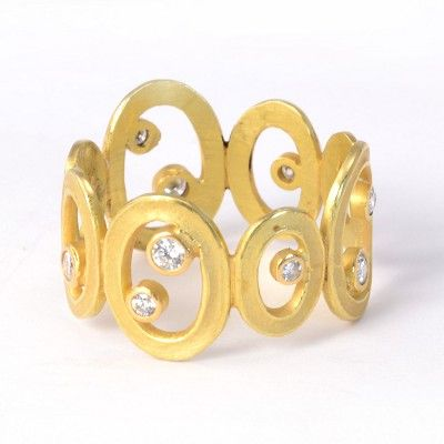 Barbara Heinrich at Patina Gallery. Ring, 18K Yellow Gold, Open Oval with…