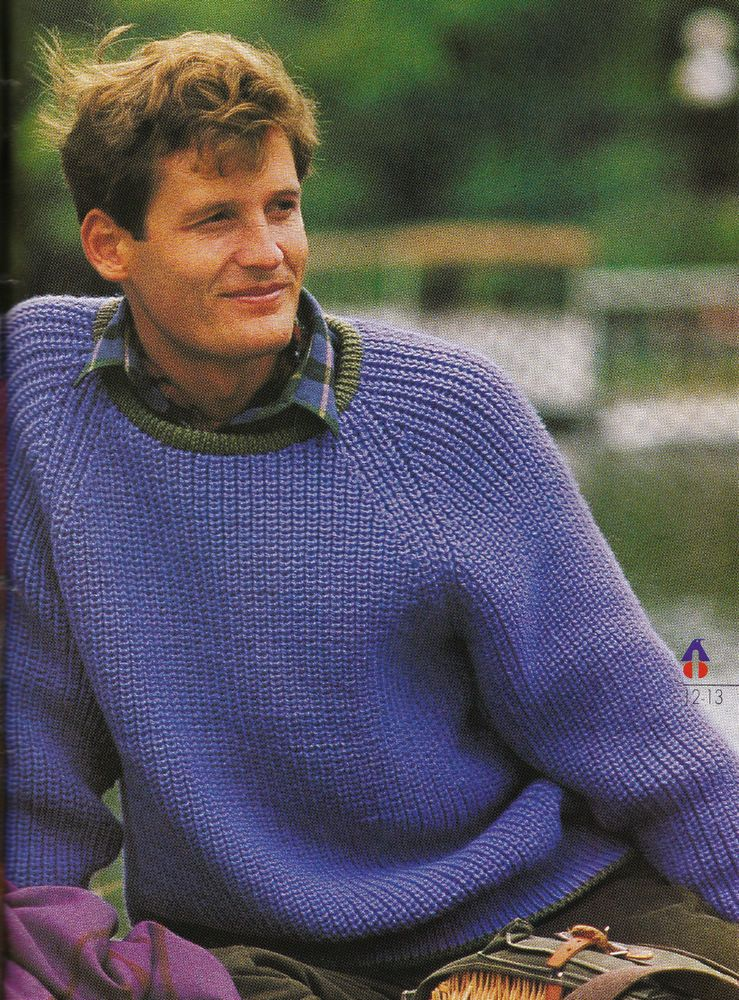 44abc055f Vintage Knitting Pattern Instructions for a Mens Fishermans Rib Jumper  Sweater