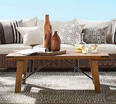 Benchwright Outdoor Coffee Table Potterybarn For The Home - Pottery barn outdoor coffee table